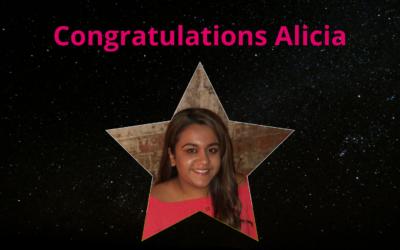 Congratulations Alicia